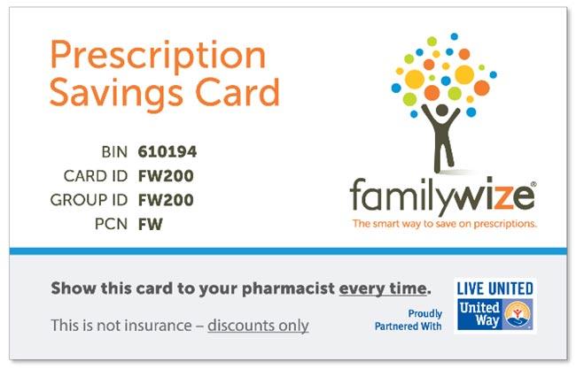 Familywize prescription card